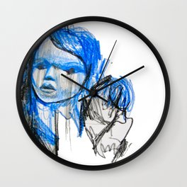 plastic girl Wall Clock