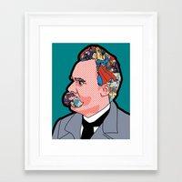 nietzsche Framed Art Prints featuring Mix - Nietzsche by Greg-Guillemin