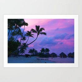 Tahitian Sunset Art Print