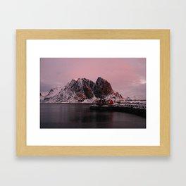 Sunrise in Lofoten Framed Art Print