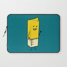 Buttered Buttery Stick of Butter Happy Thumbs Up Laptop Sleeve