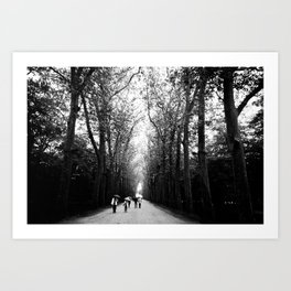 The walk to Château de Chenonceau Art Print