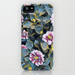 flowers with leaves iPhone Case