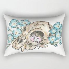 Flowery Animal Skull 02 Rectangular Pillow