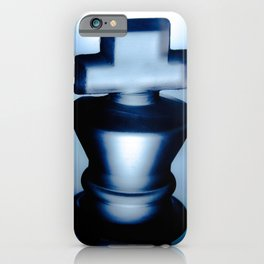 Heads of Kings Blue Abstract Still Life Photograph iPhone Case