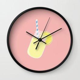 Single Mason Jar Lemonade Wall Clock