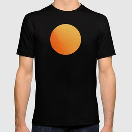 Shades of Sun - Line Gradient Pattern between Light Orange and Pale Orange T-shirt