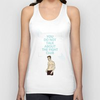 tyler durden Tank Tops featuring F. C. - Tyler Durden Quote by V.L4B