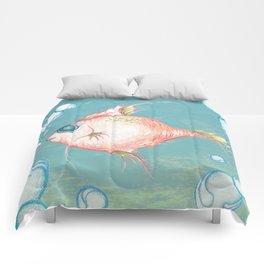 Pink Fish Dreams  Comforters