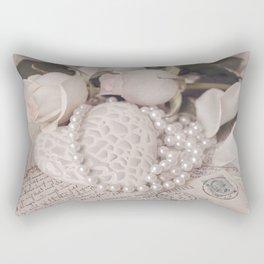 Soft Pink Nostalgic Rose and Heart Still Rectangular Pillow