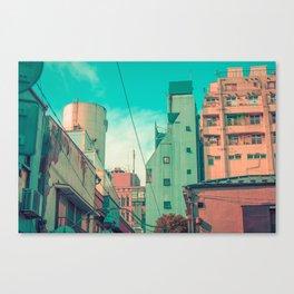 Manga City Canvas Print