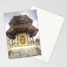 The Pagoda Battersea Park London Vintage Stationery Cards