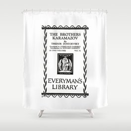 The Brothers Karamazov Fyodor Dostoevsky Title Page Shower Curtain