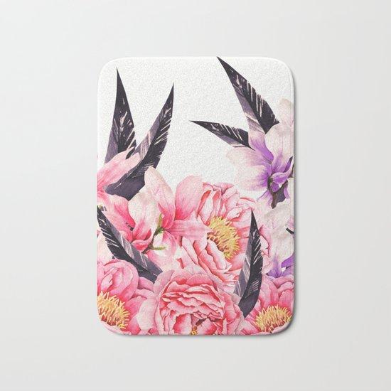 Floral Rise Bath Mat