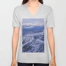 At night by the sea Unisex V-Neck