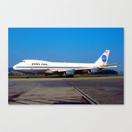 PanAm 747 Clipper Canvas Print