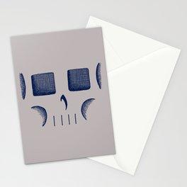 Skull Linework (Dark Blue / Gray) Stationery Cards