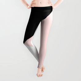 Blush meets Black & White Geometric #1 #minimal #decor #art #society6 Leggings