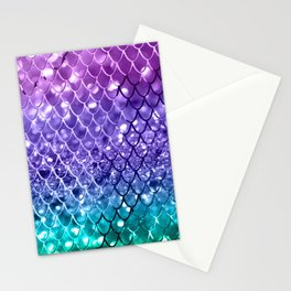 Mermaid Scales on Unicorn Girls Glitter #19 #shiny #decor #art #society6 Stationery Cards