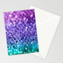 Mermaid Scales on Unicorn Girls Glitter #19 #shiny #decor #art #society6 Stationery Cards