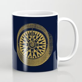 The golden compass I- maritime print with gold ornament Coffee Mug
