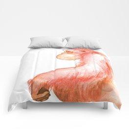 Elka, Orangutan Watercolor Comforters