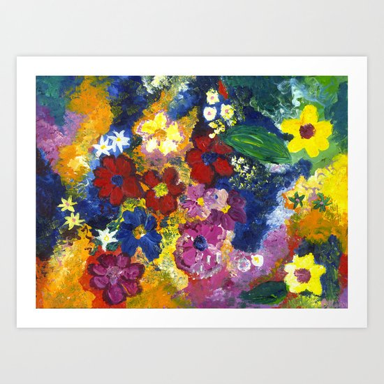 Bright Flowers Art Print