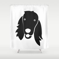 irish Shower Curtains featuring Irish Setter by anabelledubois