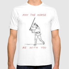 May The Horse Be With You MEDIUM Mens Fitted Tee White