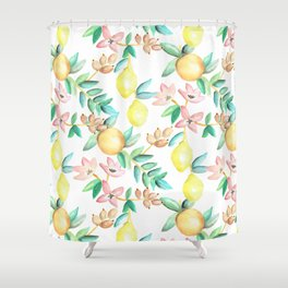 Flowers and Fruits Shower Curtain