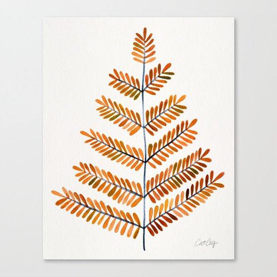 Autumn Leaflets Canvas Print
