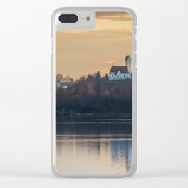Nature lake and view to St.Martins Church Clear iPhone Case