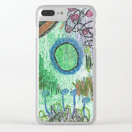 The Blues Garden Clear iPhone Case