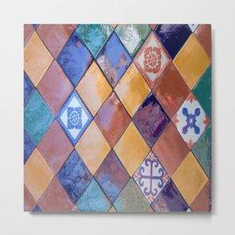multicolor ceramic tiles Metal Print