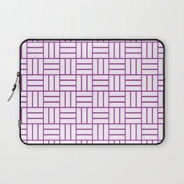 Basketweave (Purple & White Pattern) Laptop Sleeve