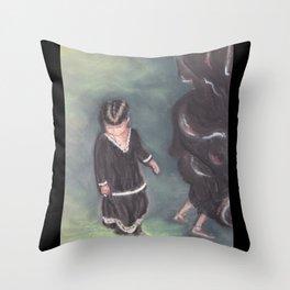 Little Rajasthan Dancer Throw Pillow