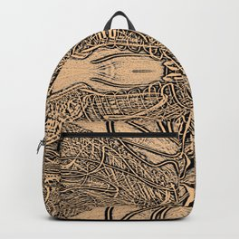 Lines Intra - Fine Line Work in Sepia and Black and Grey Backpack
