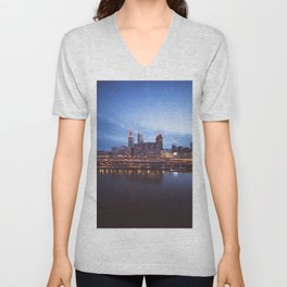 Daybreak in Cleveland Unisex V-Neck