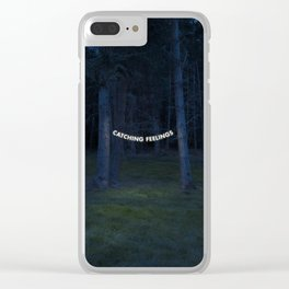 Catching Feelings Clear iPhone Case