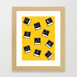 Like My Cat Pics Polaroids Pattern Framed Art Print