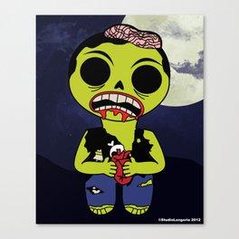 Mischievous Monsters - Zombie Zeke Digital Canvas Print