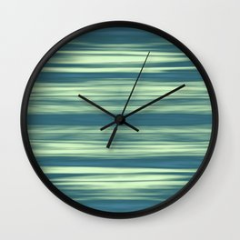 Abstraction Serenity in Afternoon at Sea Wall Clock