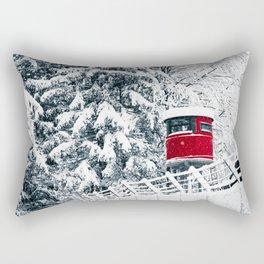 snowfall in the italian alps Rectangular Pillow