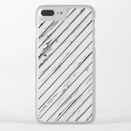 gray wall Clear iPhone Case