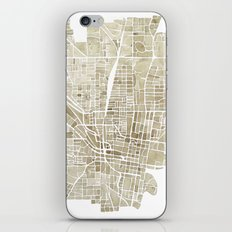 Jackson Mississippi watercolor city map iPhone & iPod Skin