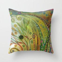 When Octopus Created the Night Sky Throw Pillow