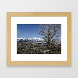 Grand Tetons from Gros Ventre Framed Art Print