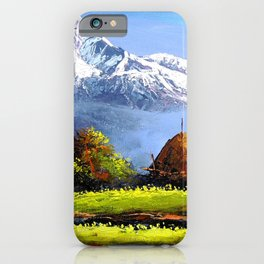 Panoramic View Of Beautiful Everest Mountain iPhone Case