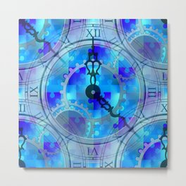 Time Puzzle Metal Print