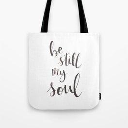 Be Still My Soul Watercolor Tote Bag